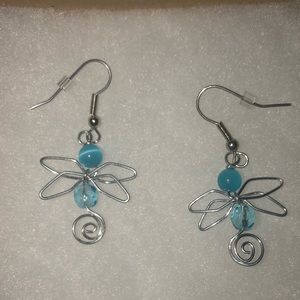 3/20$ ALL JEWELRY Blue dragonfly earrings